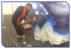 Respraying a car