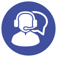large customer service icon