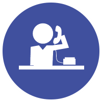 large outsourced reception icon