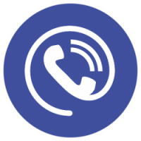 large telephone answering icon