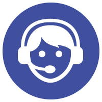 large virtual receptionist icon