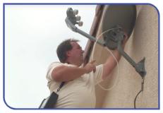 Installation of satellite broadband